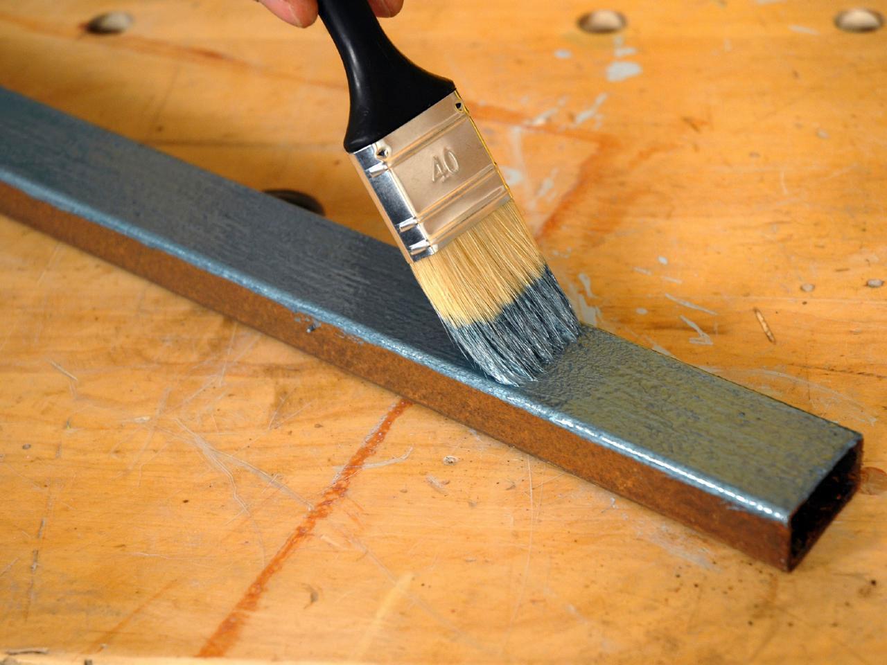 Metallic Painted Furniture Diy